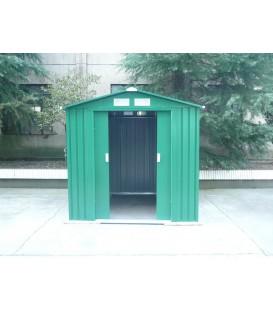 Caseta metálica Manchester con doble puerta y dos aguas 201x181x190