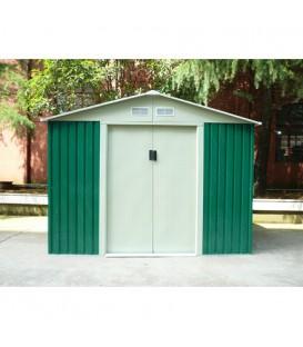 Caseta metálica Cambridge con doble puerta y dos aguas 261x181x198